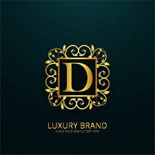 d d 5 character sheet luxury letter d logo vector free download