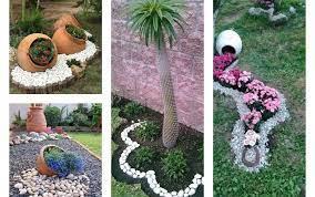 affordable pebble garden decor ideas