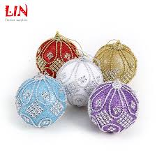 How To Decorate Styrofoam Balls Christmas 100 cm stuck drill beads luxurious foam ornaments 15