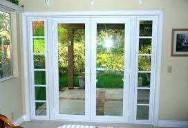 french door with sidelights front glass replacement cost convert doors to single exterior operable 2 sideligh