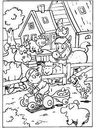 Kleurplaat Boerderij Boerderij Farm Animal Coloring Pages Farm
