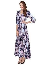 R.Vivimos Women Summer Button up <b>Floral Print</b> Split Beach Maxi ...