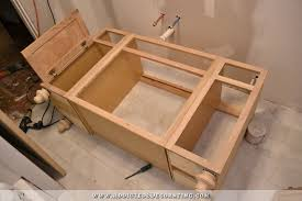 furniture style bathroom vanity from stock cabinets 14