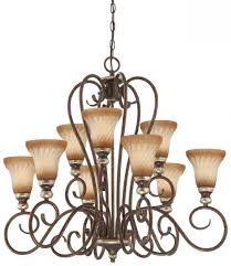 minka lavery marsoni 9 light chandelier in distressed marsoni bronze finish w old world patina glass