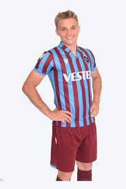 TS Club Europe - Trabzonspor Macron Trikot Bordeauxrot Blau Gestreift