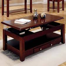 ... Coffee Table, Surprising Dark Red Minimalist Wood Coffee Table Lift Top  Idea To Complete Small ...
