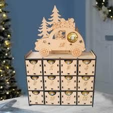 24 cassetti In Legno Di Natale Conto Alla Rovescia Avvento Calendario FAI  DA TE Scatola di Scatole di Caramelle Regalo per Natale Decorazione Della  Casa Calendari dell'avvento