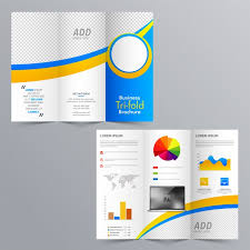 Tri Fold Brochure Layout Business Tri Fold Brochure Layout With Statistical Infographic