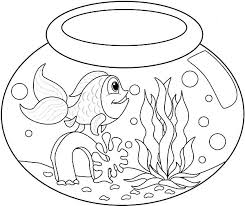 Small Picture Long Tailed Fish in Fish Bowl Coloring Page Download Print
