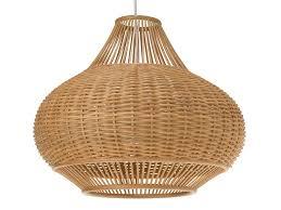 wicker pear 1 light pendant lamp