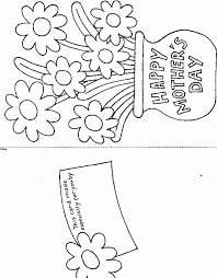 Card with flowers, gift for mom. Printable Mother S Day Card Coloring Page Book For Kids
