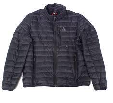 Details About Gerry Mens Jacket Deep Black Size Large L Full Zip Packable Puffer 69 508