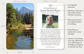 Funeral Prayer Cards Memorial Prayer Cards