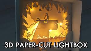 3d Photo Light Box 3d Papercut Capybara Lightbox Diy Projects