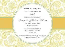 Ruby Wedding Anniversary Invitation By 50th Party Templates