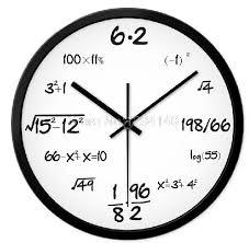 math equation clock jennarocca