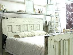 vibrant design headboard made out of old doors from headboards reclaimed wooden door bed frame by