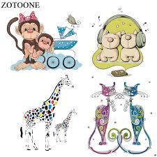 ZOTOONE <b>Cartoon Animal Patches Set</b> Heat Transfers Vinyl for Kid ...