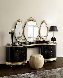 decoration elegant antique dressing table with round mirror 20 with