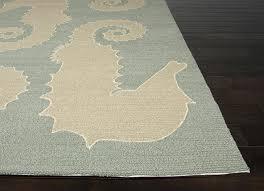 home a beach coastal decor area rugs outdoor house seahorse slate blue indoor rug rugs indoor outdoor coastal