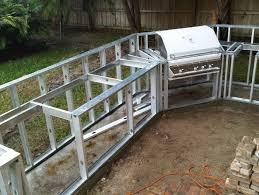 diy outdoor kitchen frames