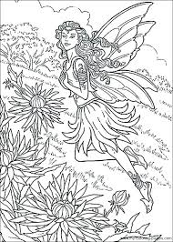 Gothic Fairies Coloring Pages Ideas Fairy Coloring Pages For Adults