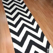 black and white floor runner zoom chevron bold kitchen