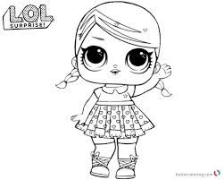 Lol Surprise Coloring Pages Super Bb Glitter Free Printable