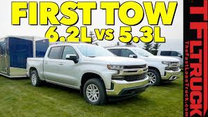 Compared 2019 Chevy Silverado 1500 5 3l Vs 6 2l V8 First Tow Review