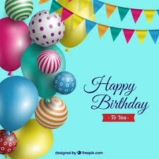 Free Birthday Backgrounds Birthday Background With Realistic Balloons Vector Free