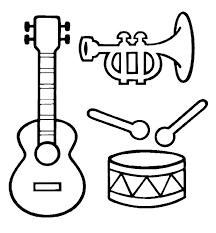 Kleurplaat Muziekinstrumenten Music Stuff Muziek Muziek