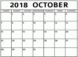 Printable Calendar October 2018 | Business Calendar Templates