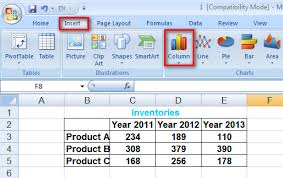 How To Use Create Charts Graphs In Excel 2007