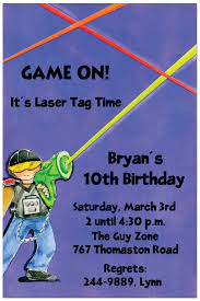 Free Laser Tag Invitation Template Laser Tag 10th Birthday Invitations Free Printable Birthday