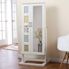 mirror armoire. white mirror jewelry armoire