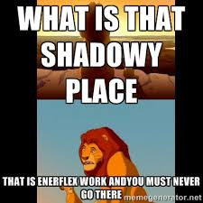 what is that shadowy place That is Enerflex work andyou must never ... via Relatably.com
