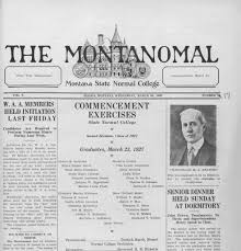 The Montanomal (Dillon, Mont.) 1926-1949, March 23, 1927, Page 1, Image 1 «  Montana Newspapers
