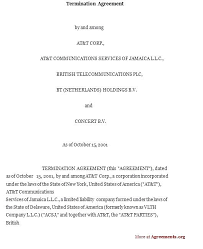 Mutual Contract Termination Agreement Template Termination