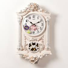 home design luxurious decorative wall clocks on quartz abs plastic hanging pendulum vintage decorative wall