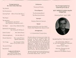 Free Memorial Service Program Funeral Program Friday Marion Allen Christian Brilliant Ideas Of 16