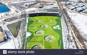 Driving Range Design A Drone Aerial View Of Topgolf Topgolf Features Three