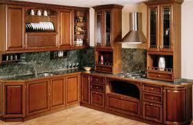 Corner Kitchen Cupboards Kitchen Brown Varnished Wood Kitchen Cabinet With Glass Kitchen