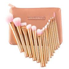 rose gold makeup brushes set. de\u0027lanci pro 15pcs makeup brushes set foundation blush powder eyebrow highlighter brush rose gold