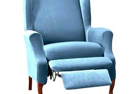 lazy boy blue leather rocker recliner with built in fridge recliners furniture nice armchair and wooden