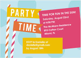 invitation wording design ideas awesome summer birthday party smlfimage source