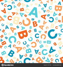 Abc Pattern Best Seamless Vector Pattern Different Letters ABC Stock Vector