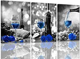 There may be no more beloved combination than blue and white. Amazon Com Royal Blue Wall Art