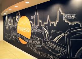 Wall murals office City Skyline Corporate Office Wall Murals Permanent amp Temporary Options Office Mural Office Walls Pinterest Image Result For Sf Muralists Gym Murals Pinterest Office