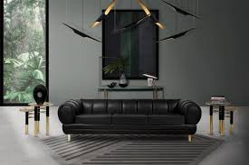 5 black leather sofas or we found what your living room was missing