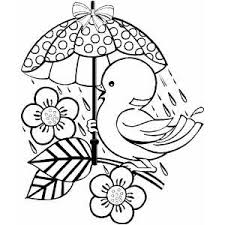 Small Picture With Umbrella Coloring Sheet